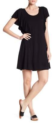 Vanity Room Ruffle Short Sleeve Knit Dress