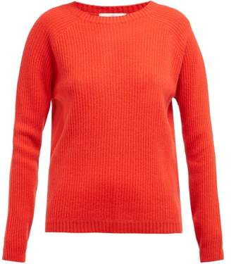 Allude Ribbed Knit Cashmere Sweater - Womens - Red