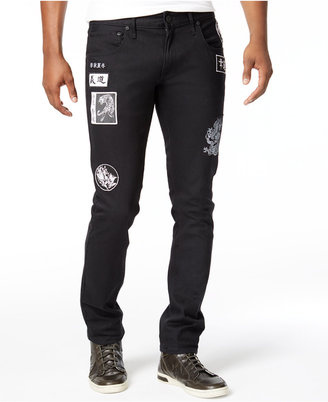 INC International Concepts Men's Skinny-Fit Stretch Patch Jeans, Only at Macy's $79.50 thestylecure.com