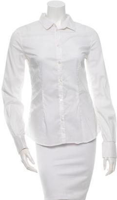 D&G White Button-Up Top $65 thestylecure.com