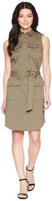 Lauren Ralph Lauren Petite Stretch Cotton Twill Utility Dress Women's Dress