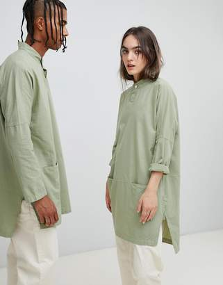 Seeker Mandarin Collar Tunic in Organic Hemp Cotton