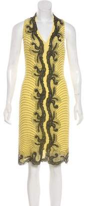 Yigal Azrouel Silk Embellished Dress