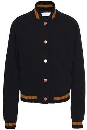Appliquéd Wool-Blend Bomber Jacket