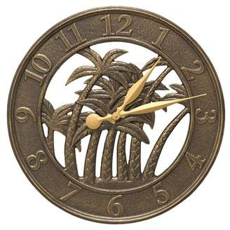"""Whitehall Products 18"""" Palm Indoor/Outdoor Wall Clock"""