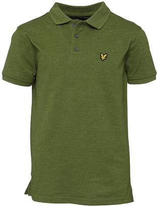 Lyle & Scott Boys Classic Polo Olive Marl