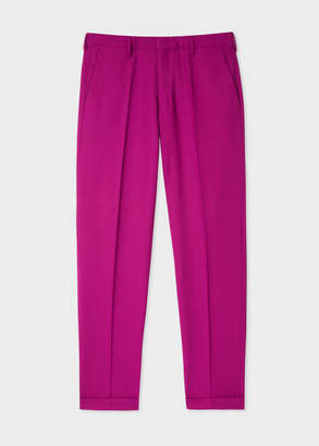 Paul Smith Men's Slim-Fit Purple Wool Pants