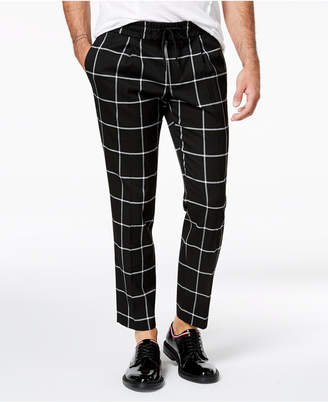 INC International Concepts I.n.c. Men's Windowpane Pants, Created for Macy's