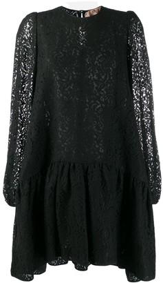 No.21 floral lace shift dress