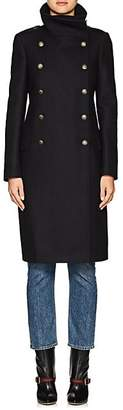 Barneys New York Women's Wool-Blend Long Double-Breasted Coat - Navy