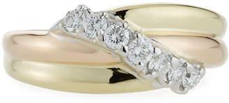Salvini 18k Asymmetric Diamond Overlap Ring, Size 7