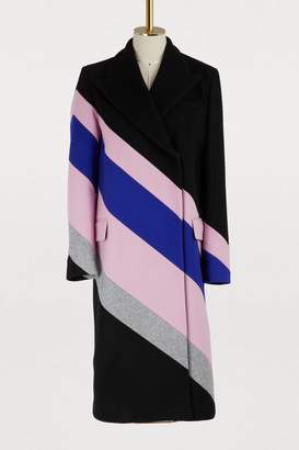MSGM Striped wool coat
