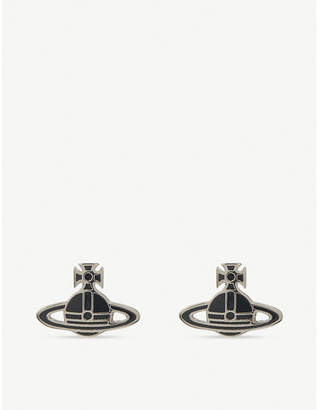 Vivienne Westwood Kate Orb stud earrings, Blk/palladium