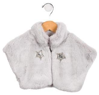 Dahlia Tutu du Monde Girls' Faux Fur Jacket w/ Tags