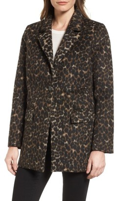 Women's Tahari Kendall Leopard Print Topper $180 thestylecure.com