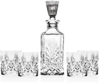 Godinger Shannon 5-Piece Whiskey Decanter Set