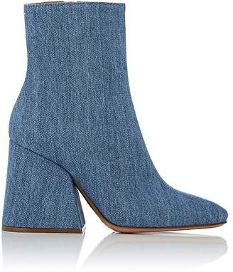 Maison Margiela Women's Angled-Heel Denim Ankle Boots