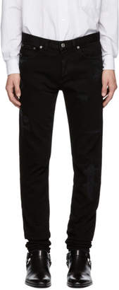 Givenchy Black Destroyed Jeans