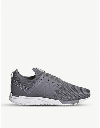 New Balance 247 leather and mesh-knit trainers