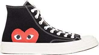 Comme des Garçons PLAY Men's Men's Chuck Taylor 1970's High-Top Sneakers $120 thestylecure.com