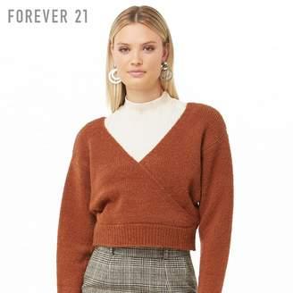Forever 21 (フォーエバー 21) - Forever 21 カシュクールネックブラッシュドセーター