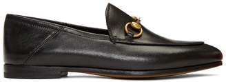 Gucci Black Brixton Crushback Loafers