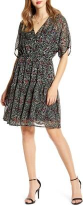 Vero Moda Liva Floral Print Chiffon Dress
