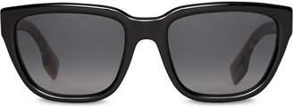 Burberry Eyewear Vintage Check Detail Square Frame Sunglasses