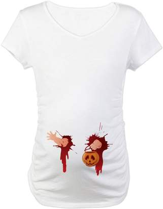 a8773278e4175 CafePress - Funny Halloween Baby - Cotton Maternity T-shirt
