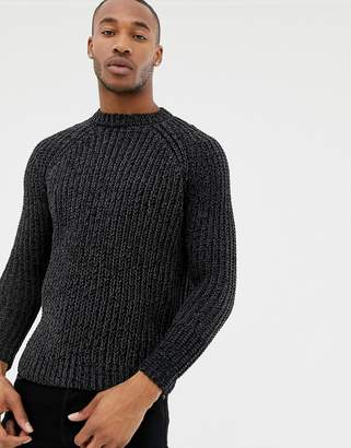 Pull&Bear chenille sweater in gray