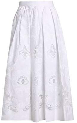 Dolce & Gabbana Pleated Broderie Anglaise Cotton-Blend Midi Skirt