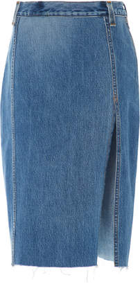RE/DONE Denim Midi Skirt Size: 25