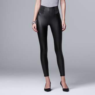 93cf52c9158 Vera Wang Women s Simply Vera Faux Leather Leggings