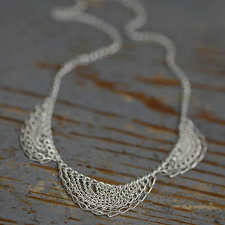 Kate Wood Jewellery Sterling Silver Scallop Necklace