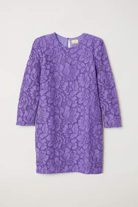H&M Short lace dress - Purple
