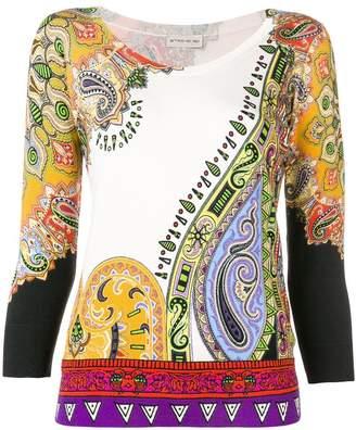 Etro paisley printed jumper