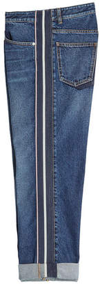 Alexander McQueen Boyfriend Jeans with Stripes