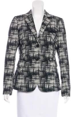 Akris Punto Patterned Button-Up Blazer