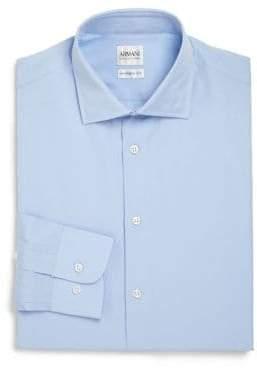 Giorgio Armani Modern-Fit Cotton Dress Shirt