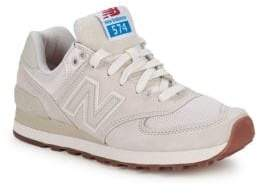 New Balance WL 574 Round Toe Lace-Up Sneakers