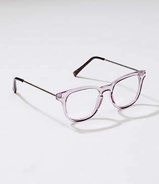 LOFT Metallic Arm Square Reading Glasses