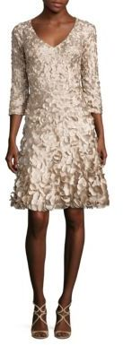 Theia Petal Flared Dress $795 thestylecure.com