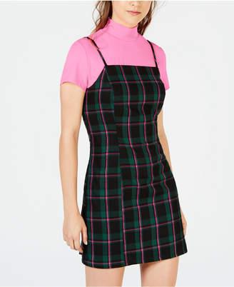 Common Stitch Juniors' Neon Top & Plaid Dress