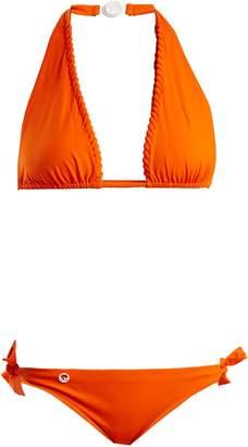 Fendi Lace-up halterneck tie-side bikini set