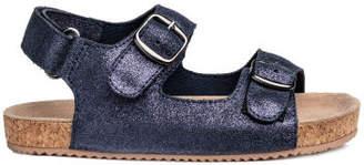 H&M Suede Sandals - Blue
