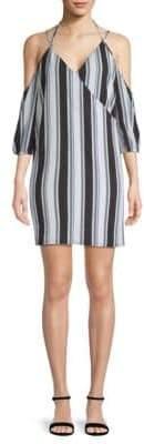 Ali & Jay La Ciudad Stripe Cold-Shoulder Dress