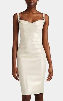 Zac Posen Women's Metallic Midi-Cocktail Dress - Gold