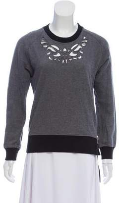 The Kooples Sport Long Sleeve Cutout Sweatshirt
