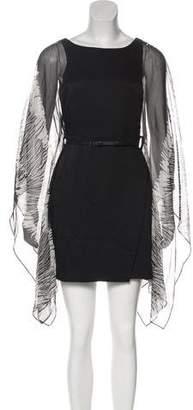 Halston Semi-Sheer Mini Dress w/ Tags