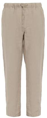 Onia Carter Drawstring Linen Trousers - Mens - Beige